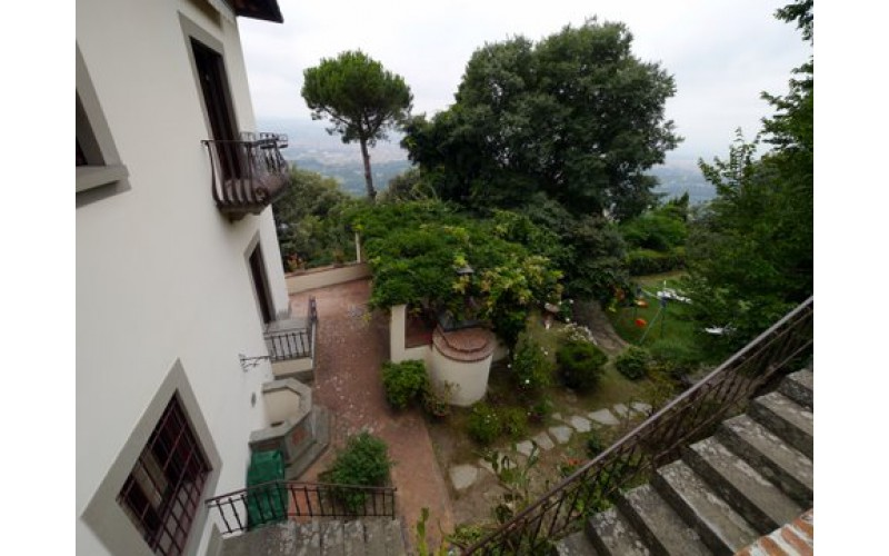 villa a Fiesole, nelle colline di Firenze