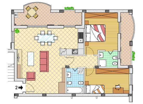 planimetria casa in vendita a Pavia